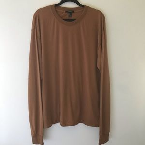 FOREVER21 MENS STREET LONG TEE IN DUST COLOR